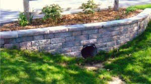 Driveway Culvert Paver Retaining Wall and Landscaping Rockford IL