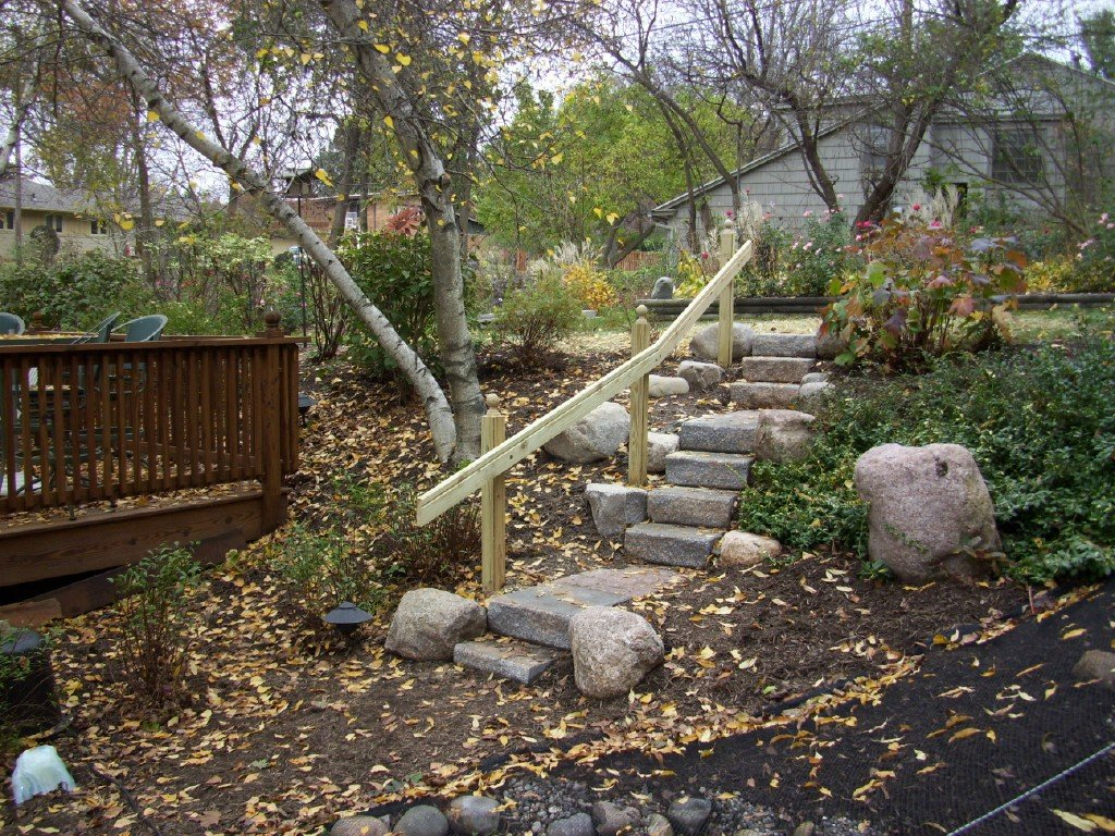 Stone Steps to Pond 3 Image